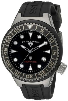 Swiss Legend Unisex 11044D-GM-01-NB Neptune Analog Display Swiss Quartz Black Watch -- Click on the watch for additional details.
