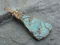 Opalanhänger - Boulder Opal - Blaugrün