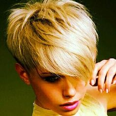 Call it the new world order in hair dressing , this selection of the edgy short hair styles 2011 will grant hair chameleons with the most i. Edgy Short Hair, Short Blonde, Short Hair Cuts For Women, Short Hair Styles, Ash Blonde, Short Cuts, Blonde Pixie, Blond Bob, Edgy Pixie