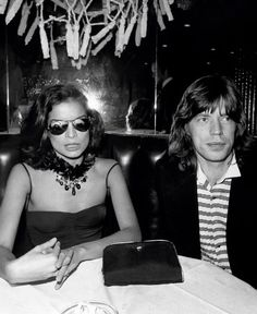 "toryburch: ""N is for Night on the Town Mick Jagger and wife Bianca Jagger at Copacabana's in New York City, 1976. Photograph from Getty Images """