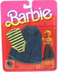 Vintage Barbie Doll Clothing b Active Fashions Green Jumpsuit ...