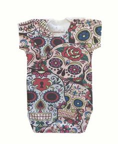 Baby onesie Handmade artist Design-Pink and Blue Skull with hearts pattern on Back Baby Onesie, Baby Bodysuit, Skull Design, Heart Patterns, Skull Outfits, Kids Fashion, Men Casual, Trending Outfits, Children