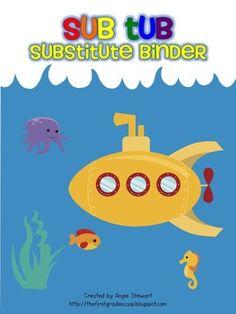 Substitute Teacher binder. Must do!
