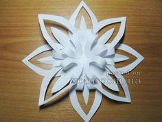 3D снежинка из бумаги #1