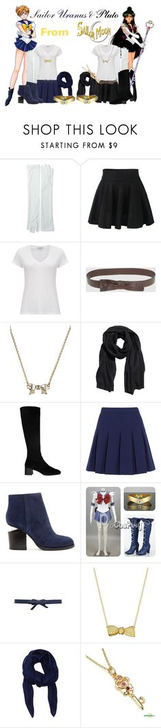 """""""Sailor Uranus & Pluto from Sailor Moon!"""" by drinkdionysus ❤ liked on Polyvore featuring moda, Jacobson Hat Company, James Perse, Valentino, RED Valentino, Osiris, H&M, Whistles, Diane Von Furstenberg y Alexander Wang"""