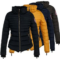 581827813267cb Navahoo Amber Damen Winter Jacke Steppjacke Mantel Winter Stepp Winterjacke  Warm in Kleidung & Accessoires,