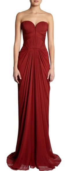 Maroon, sweetheart neckline bridesmaid dress