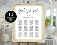 Wedding Seating Chart Template by WeddingPrintablesCo on @creativemarket
