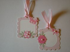 DIE CUT EMBELLISHMENT TAGS -  $1.50, via Etsy.