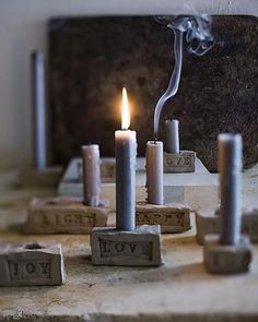 i need to make these from clay. have this size of candles and can never find holders. sweet! #homedecor
