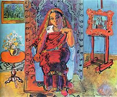 Raoul Dufy - Interior with Indian Woman