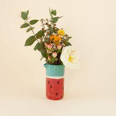 Angie Jug  Wassermelone Porzellan Vase Krug. von thingsbybea
