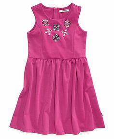 DKNY Girls Dress, Girls Gem-Embellished Sleeveless Dress - Kids Shop All Girls - Macy's