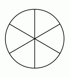 Template Of A Circle Divided Into 6 Pieces