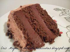 Bolo de Chocolate Trufado - delicinhasecoisinhas.blogspot.com