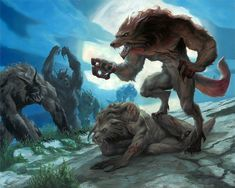 """Fights for dominance are normally strictly controlled in Wielvine society. But there is one ancient exception. During a full moon, anything goes. It is thought that being possessed by this """"moon fever"""", as they call it, unleashes a wielvine's full strength. If any pack member slays the alpha during a full moon, he becomes the new alpha."""