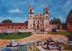 Héctor Romanzini -Estancia jesuítica de Santa Catalina, Córdoba -Argentina. Óleo sobre cartón entelado (1998)