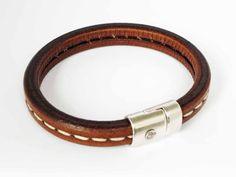 Heren Armband Striped Stitch - DJewels