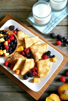 Lemon Crepes by peachesncream: Quick and easy to make despite their impressive appearance. #Crepes #Lemon