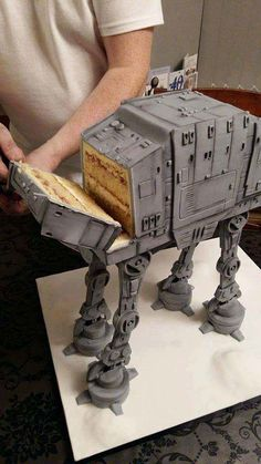 Birthday Meme Star Wars Dark Side 45 Ideas For 2019 Star Wars Torte, Star Wars Cake, Fancy Cakes, Cute Cakes, Decors Pate A Sucre, Star Wars Birthday Cake, Birthday Cakes, Star Wars Wedding Cake, Star Wars Food