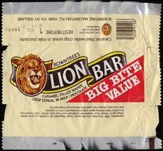 UK - Rowtree's - Lion Bar - chocolate candy bar wrapper - 1984 by JasonLiebig, via Flickr