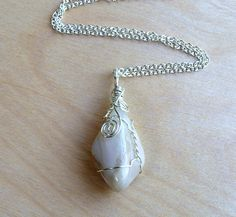 Moonstone Pendant in Sterling Silver Filled Chain by BazaarDChela, $35.00