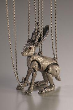 Metal Hare Marionette by Yuri Tozuka .