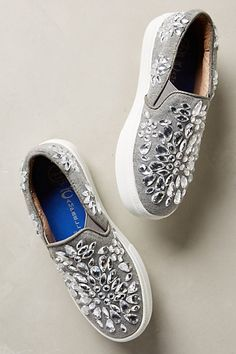 jeffrey campbell sarlo jeweled sneakers #anthrofave