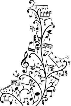 Decorative notes Music Notes Decorations, Music Decor, Sheet Music Ornaments, Calligraphy Quotes Doodles, Music Puns, Music Tree, Music Ministry, Note Tattoo, Music Illustration