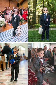 "DIY ""Special Agent"" Ring Security Kit Is The Cutest! Make your own special agent style ring security kit for your ring bearer!Make your own special agent style ring security kit for your ring bearer! Top Wedding Trends, Cute Wedding Ideas, Wedding Games, Wedding Pictures, Wedding Events, Weddings, Wedding Planning Tips, Wedding Tips, Fall Wedding"