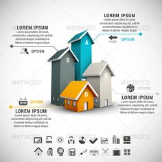Real Estate Infographic Template #design Download: http://graphicriver.net/item/real-estate-infographic/8675979?ref=ksioks