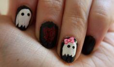 Halloween nails.