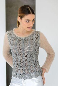 Lana Grossa PULL Nizza/Silkhair - FILATI COLLEZIONE No. 1 - Modèle 15 | Boutique FILATI Lana Grossa-Store.fr