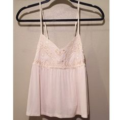 AEO Babydoll Tank Soft cropped bubble silhouette, pairs perfectly with high waisted shorts, 95% Viscose, 5% elastane, machine wash cold inside out, lay flat to dry.  Like new. American Eagle Outfitters Tops Tank Tops