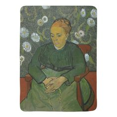 La Berceuse Augustine Roulin by Vincent Van Gogh Stroller Blankets