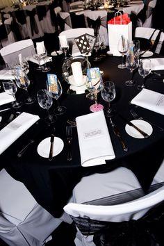 Black & white wedding - Casio theming