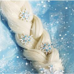 5pcs snow hairpins JYF for Movies Frozen Snow Queen Elsa Cosplay... ($0.99) ❤ liked on Polyvore featuring hair, disney, frozen, pictures and backgrounds