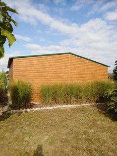 Aranytölgy mobilgarázs hátulról fotózva, sötétzöld  tetővel Gazebo, Outdoor Structures, Kiosk, Pavilion, Cabana