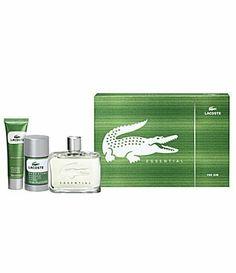 Lacoste Essential Gift Set for Men by Lacoste. $70.15. Set includes 4.2 ounce eau de toilette spray and 2.5 ounce after shave balm. LACOSTE ESSENTIAL For Men Gift Set By LACOSTE