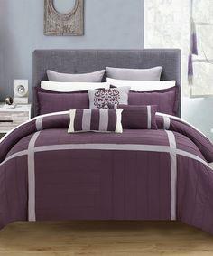 This Plum Oversized Geraldine Patchwork Comforter Set is perfect! #zulilyfinds