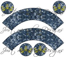 DIY Navy Chief cupcake wrapper and topper  http://www.etsy.com/listing/107307927/diy-navy-chief-cupcake-wrapper-and