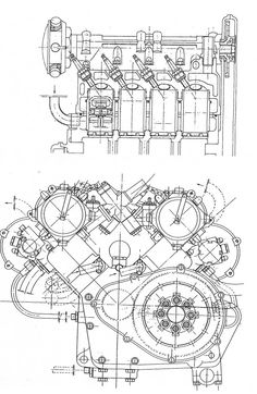 Harley Davidson 45ci Engine Blueprint by BlueprintPlace on