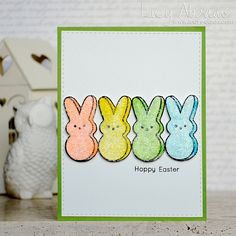 They look so good I could eat them! Hoppy Easter card by Lucy Abrams.
