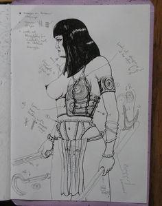 HIGH QUEEN's PERSONAL GUARD Prelim Sketch