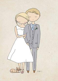 :D Custom wedding illustration digital file by Blankaillustration