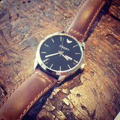 Just love the steel case black dial and mahogany strap #Richmond. #watch #watches #croftwatches