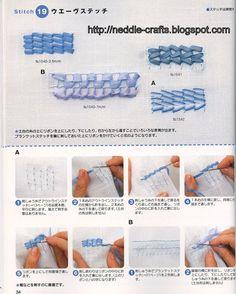 شغل ابره NEEDLE CRAFTS: تعليم التطريز بالشرائط-how to ribbon embroidery