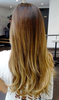 golden - straight ombré; like the colors but I don't like how quick it changes to blonde