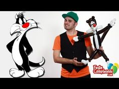 Palloncino Gatto Silvestro - Sylvester Kitty Cat Balloon - Tutorial 75 - Feste Compleanni - YouTube