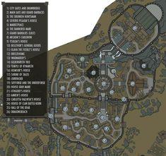 Whiterun (Skyrim) - The Elder Scrolls Wiki Cthulhu, Skyrim Map, Imperial Legion, Pen & Paper, Building Map, The Elder Scrolls, Map Pictures, Games, Costumes